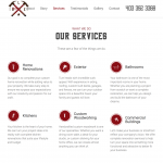 Luts Building Enterprises website service section