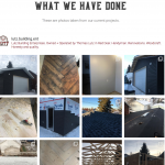 Instagram feed on Lutz Building Enterprises website
