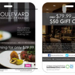 Boulevard Restaurant gift card Costco package design by Jay Gervais