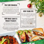 Newspaper advertisement made by Jay Gervais for Greentree Restaurant in Hinton, Alberta