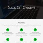 Black Cat Creative website home page design