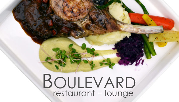 Boulevard Restaurant photography and graphic design by Jay Gervais for website