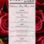Greentree Restaurant Valentine's Day menu design by Jay Gervais