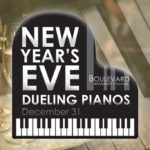New Year's Eve Dueling Pianos event graphic design for Boulevard Restaurant by Jay Gervais