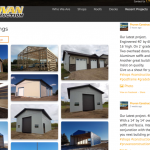 Recent projects gallery page on Pruvan Construction's website